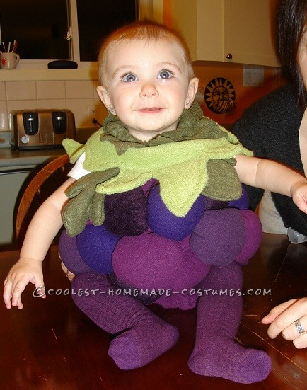 Sweet Homemade Costume for a Baby: Little Baby Grape