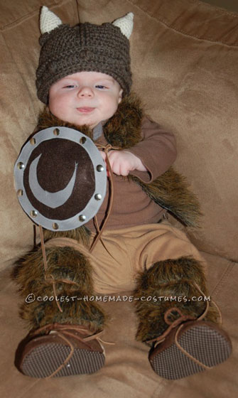 Pint-Sized Baby Pillager Viking Costume