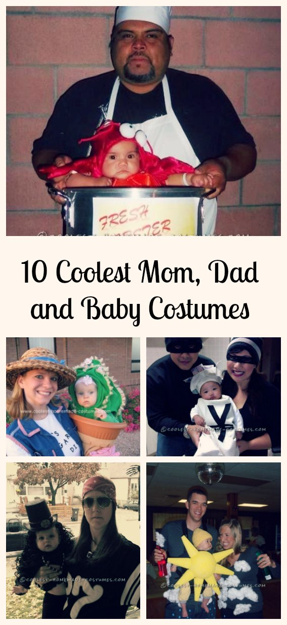 The family that plays together, stays together and these adorable baby costume ideas will allow you to include even your tiniest family members in the fun of Halloween