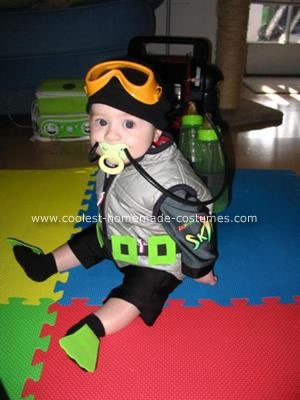 Coolest Homemade Scuba Diving Baby Costume