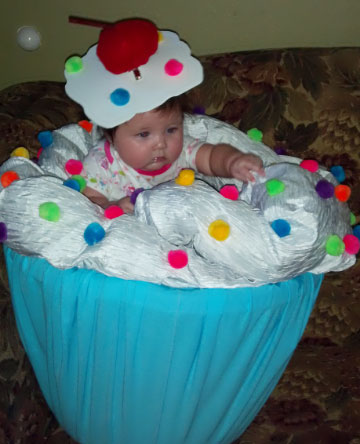 Coolest Homemade Baby Cupcake Costume