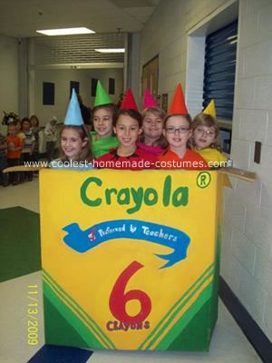 Crayola Crayons and their Box Costume