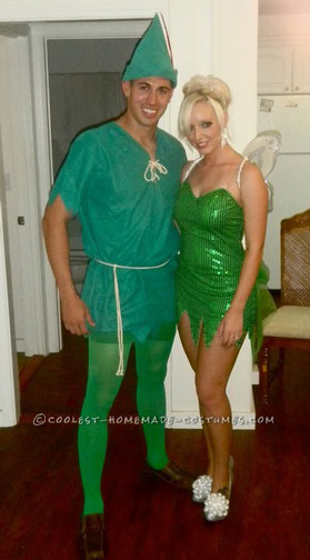 Best Peter Pan and Tinkerbell Couple Halloween Costume