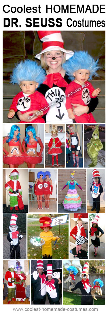 Why fit in to a store-bought disguise when you can stand out and win first prize? So reach into this jar-full of Dr. Seuss costume delights and watch how your brain turns on some bright lights.