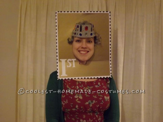Original Postage Stamp Head Costume