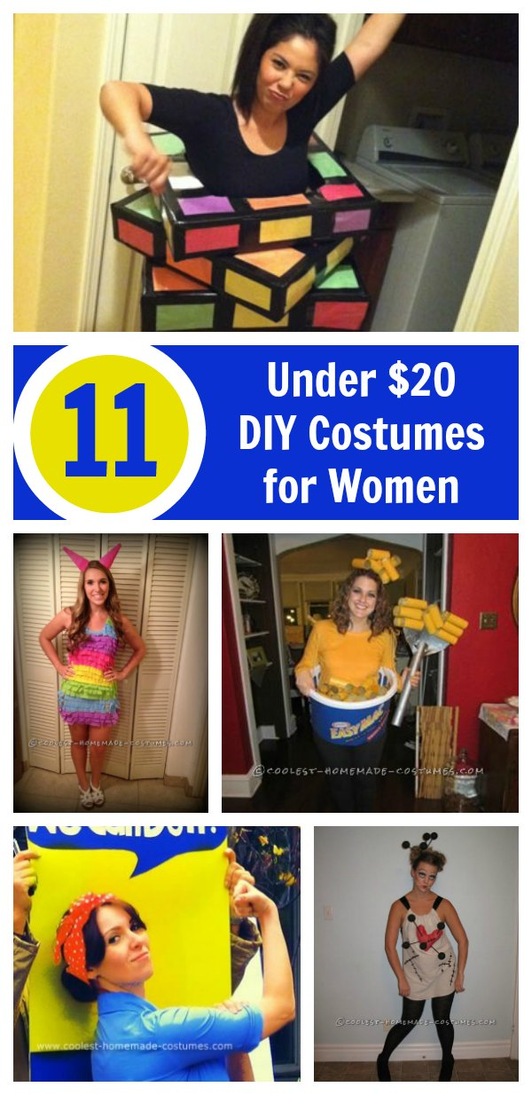 Stand out at the party without breaking the bank in one of these cheap Halloween costume ideas you can make for less than a couple of ten spots.