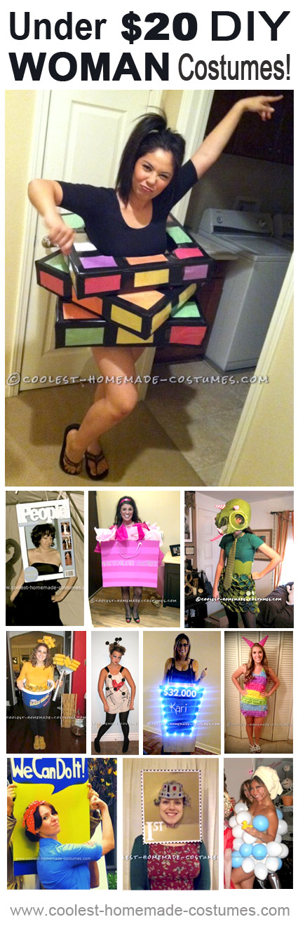 Top 11 Cheap Halloween Costume Ideas (Under $20) for Women - Cool Cheap Halloween Costumes