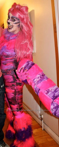 Coolest Alice in Wonderland Cheshire Cat Homemade Halloween Costume