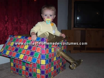Jack in the Box Children Halloween Costume