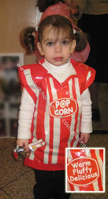 Homemade $1 Popcorn Costume