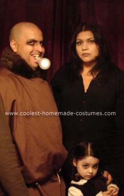 Uncle Fester, Morticia and Wednesday Addams Costumes