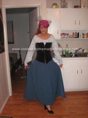 Homemade Little Mermaid Town Dress Costume