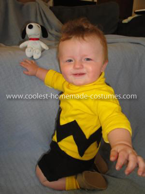 Homemade Baby Charlie Brown Costume