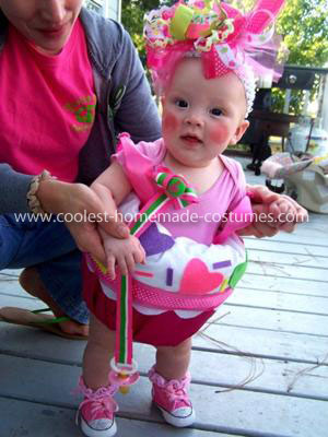 Homemade Baby Cupcake Costume