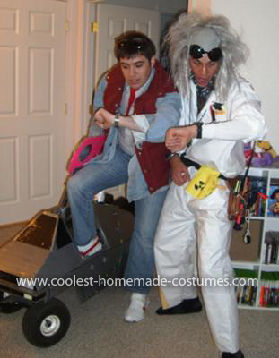 Homemade Back to the Future Couple Costume