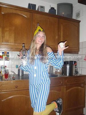 Homemade Banana in Pyjamas Costume
