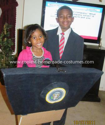 Homemade Barack and Michelle Obama Couple Costume