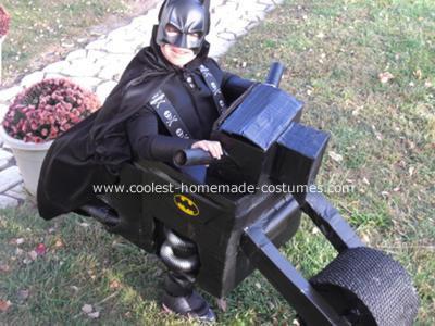 Homemade Batman and Batcycle Costume