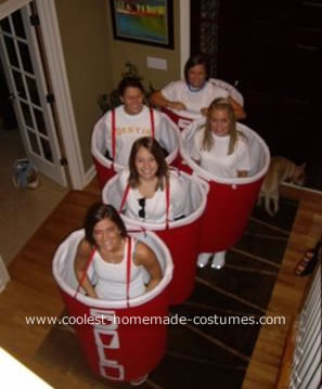 Homemade Beer Pong Costumes
