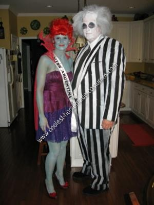 Homemade Beetlejuice and Miss Argentina Couple Halloween Costume Idea