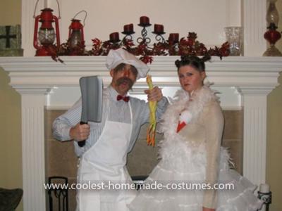Homemade Bjork and Swedish Chef Couple Costume