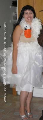 Homemade Bjork in Swan Dress Costume