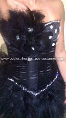 Coolest Black Swan Costume - Added bead work