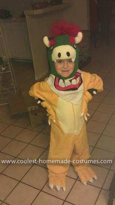 Coolest Bowser Jr. Costume 7