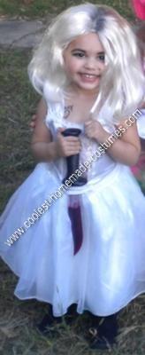 Homemade Bride of Chucky DIY Toddler Halloween Costume Idea