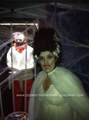 Bride of Frankenstein DIY Halloween Costume