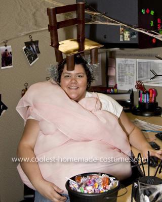 Homemade Bubblegum Under a Chair Costume