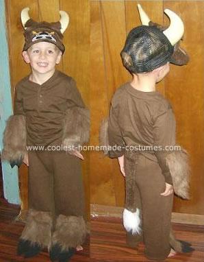 Homemade Bull Costume