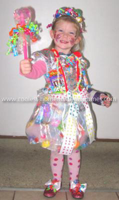 Homemade Candy Princess Costume