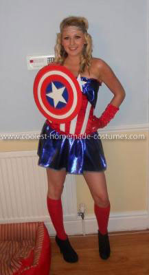 Homemade Captain America Woman's Costume