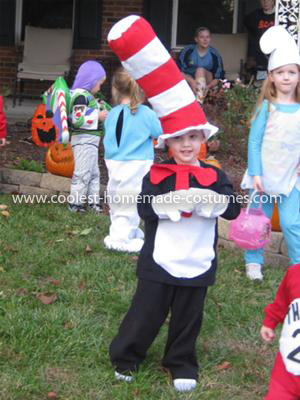 Homemade Cat in the Hat Crew Costume