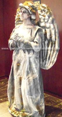 Homemade Cemetery Angel Human Statue Costume