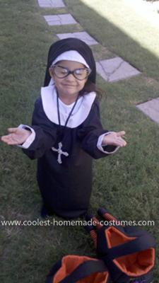 Homemade Child Nun Costume