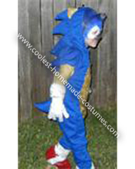 Homemade Child's Sonic The Hedgehog Costume