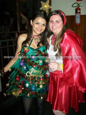 Coolest Christmas Tree Costume (with Little Red Riding Hood)
