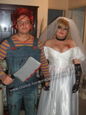 Bride of Chucky Costume http://www.coolest-homemade-costumes.com/coolest-chucky-and-bride-couple-costume-14.html