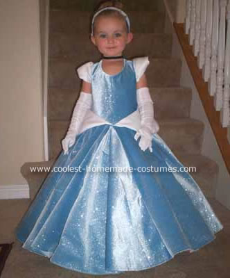 Girls Dress Patterns Free on Homemade Cinderella Costume