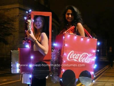 Homemade Coca Cola Christmas Truck Couple Costume