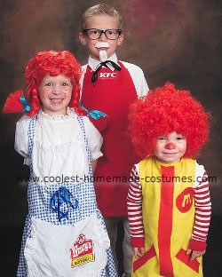 Colonel Sanders, Wendy and Ronald Mcdonald Halloween Costumes
