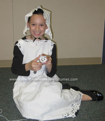 Homemade Colonial Girl Costume