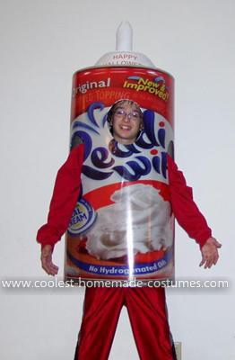 Homemade Cool Whip Costume