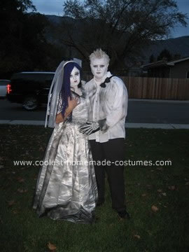 Homemade Corpse Bride and Groom Costumes