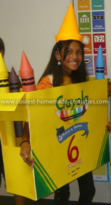 Coolest Crayola Crayon Box Costume - Side of the Crayola box; room for hands