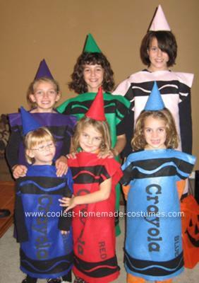 Homemade Crayola Crayons Halloween Costumes