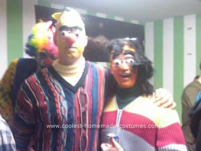 Homemade Creepy Bert and Ernie Costume
