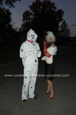 Homemade Cruella DeVille Costume